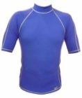 Short Sleeve Rashguard Shirt (Blue)