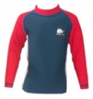 Children Swim Top Long Sleeve (Red)