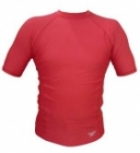 Swim Top Short Sleeve (Red)