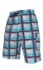 Blue Checkered Board Shorts