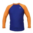 Swim Top Long Sleeve (Navy Orange)